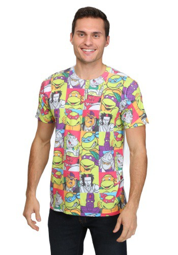 All-Over Cast TMNT Sublimated T-Shirt