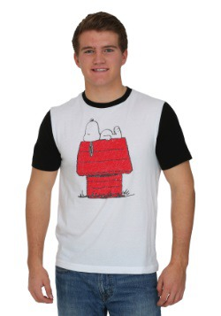 Peanuts Snoopy Lounging Ringer Men's T-Shirt
