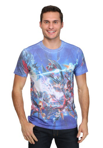 Marvel Secret Battle Sublimated Men's T-Shirt