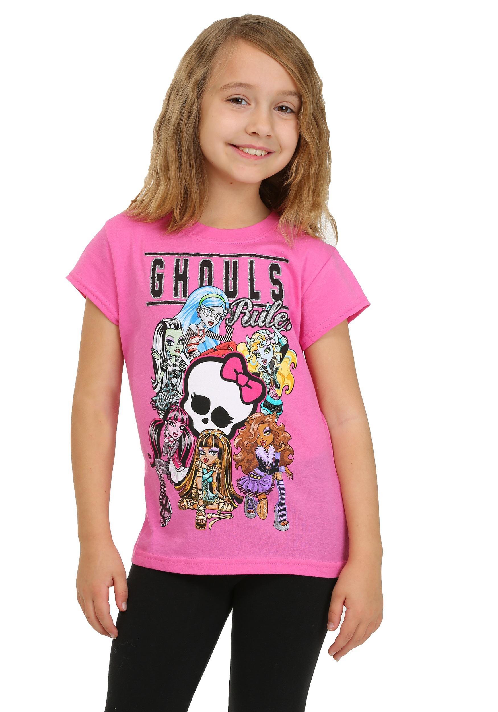 monster high ghouls rule girls tshirt
