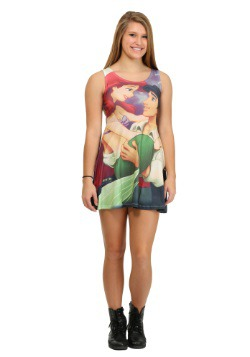 Little Mermaid Love Sublimated Juniors Tank Dress