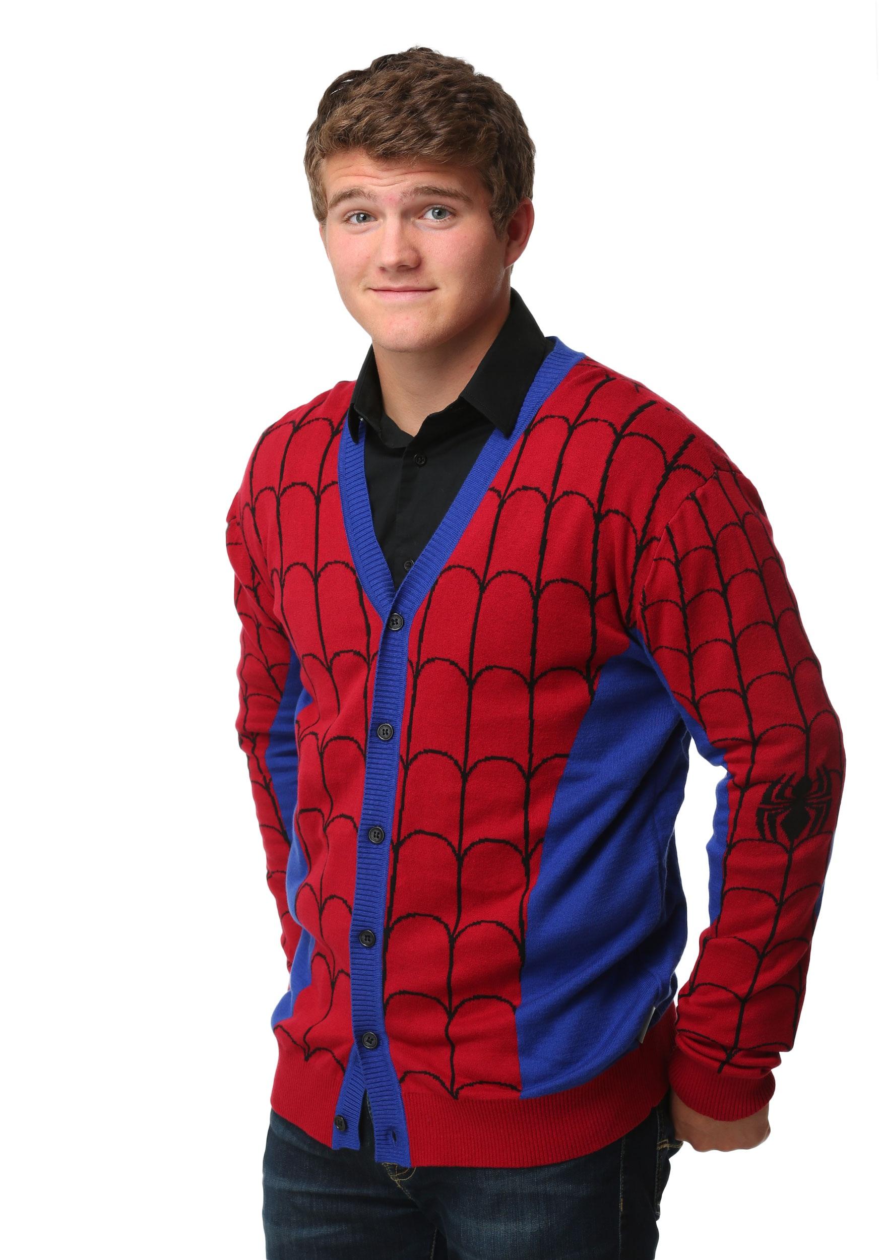 Spiderman Mens Cardigan MFMMV3699MARAS