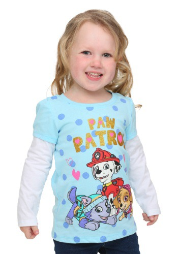 Paw Patrol Group Long Sleeve Twofer Toddler Girls