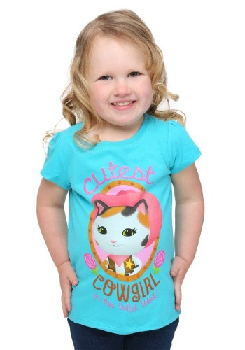 Sheriff Callie Cutest Cowgirl Toddler Girls Tee