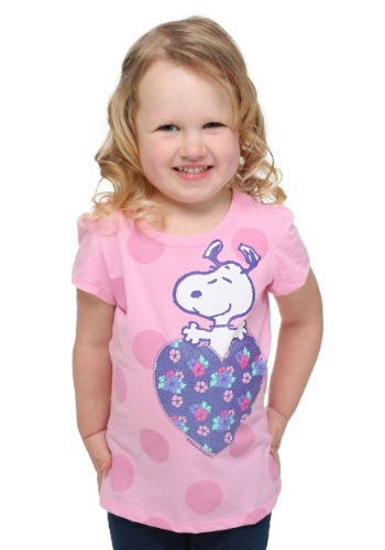 Peanuts Snoopy Hearts Toddler Girls T-Shirt
