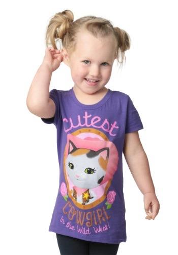 Sheriff Callie Cutest Cowgirl Girls T-Shirt
