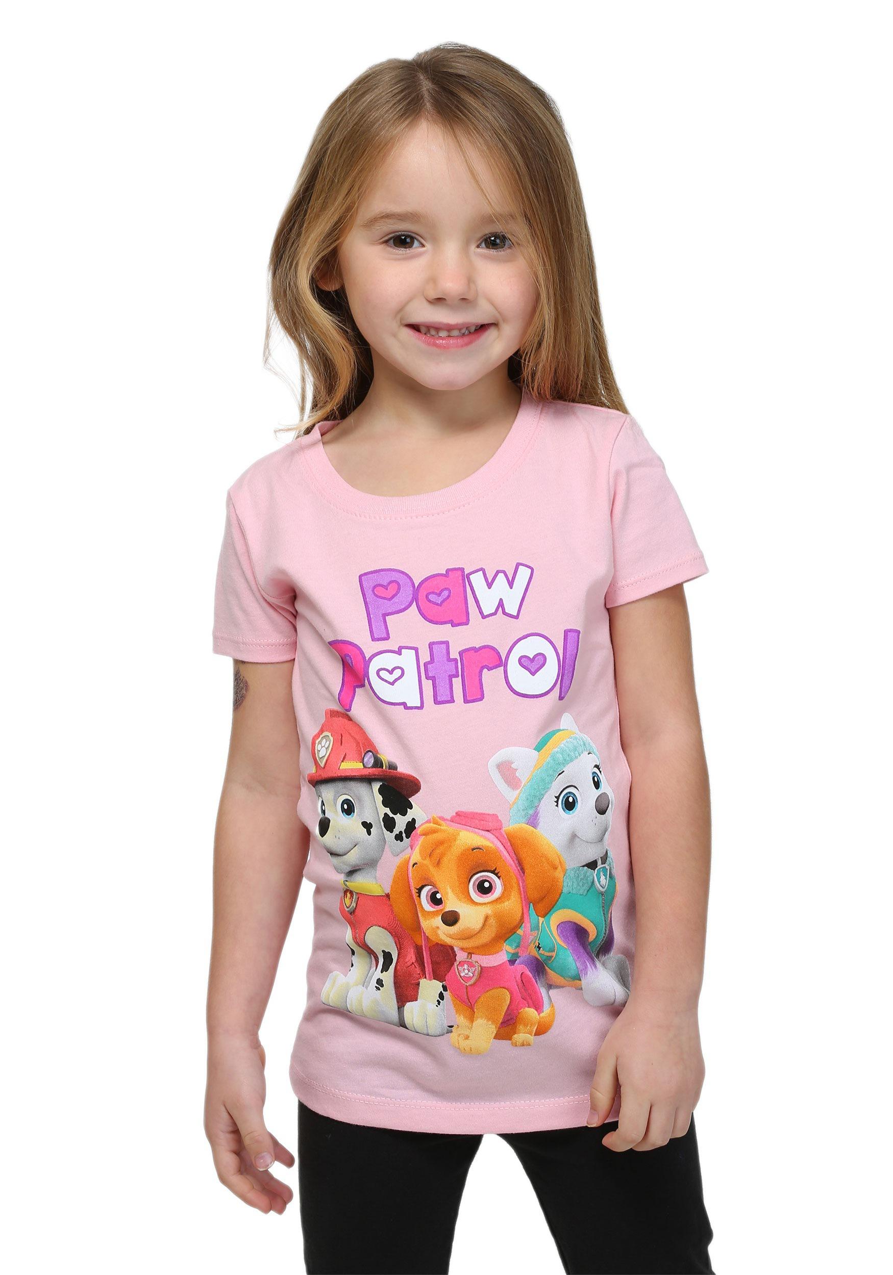 Girls Paw Patrol Group Shot T Shirt