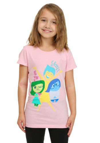 Girls Inside Out Glitter Emotions T-Shirt