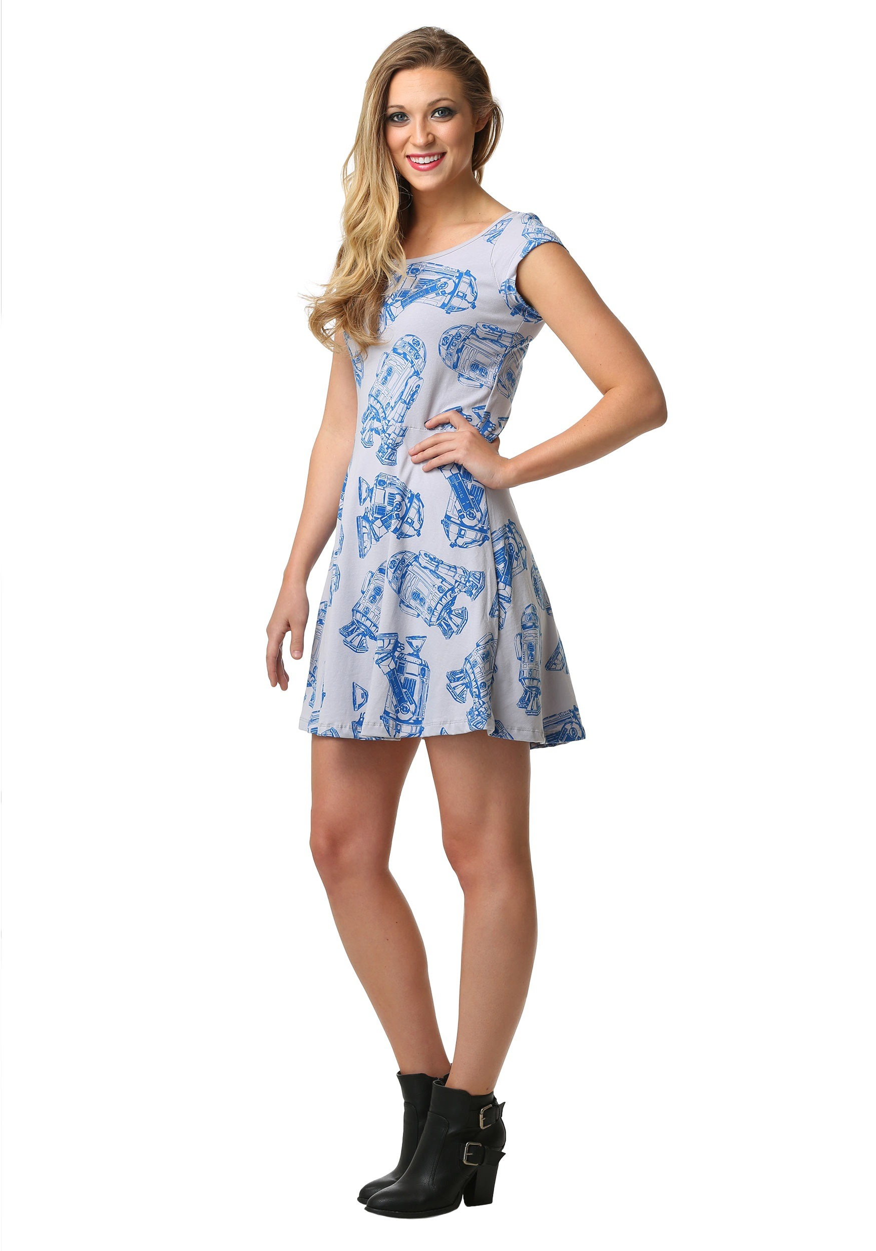 3db6090e1c Star Wars R2D2 All-Over Print Skater Dress