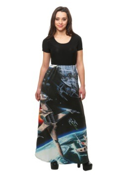 Star Wars Death Star Battle Sublimated Skirt Maxi Dress
