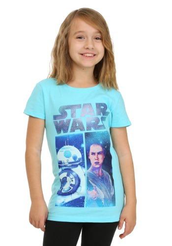 Girls Star Wars Ep 7 BB8 & Rey Cancun T-Shirt
