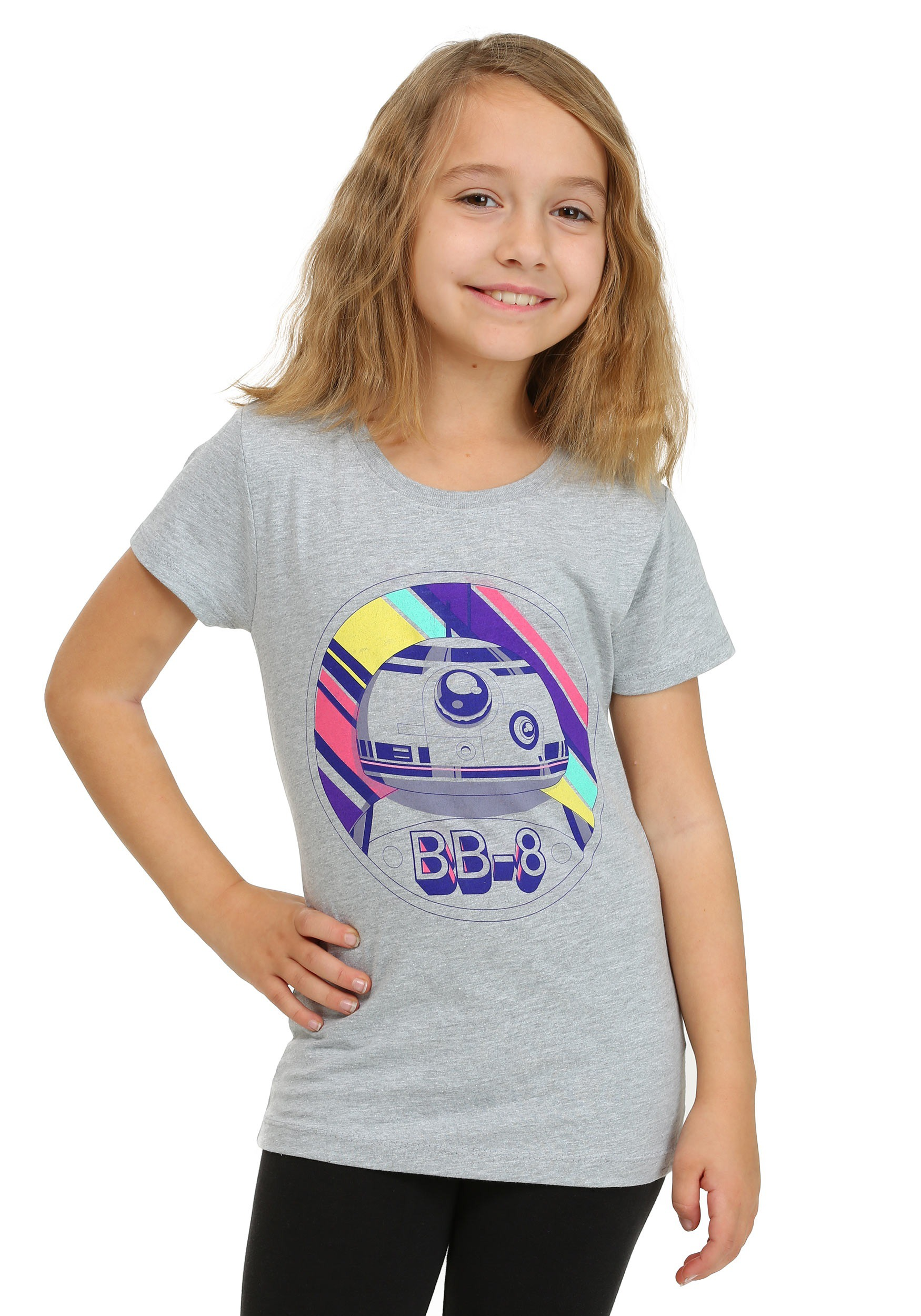 Star Wars Ep7 Bb8 Neon Circle Girls T Shirt