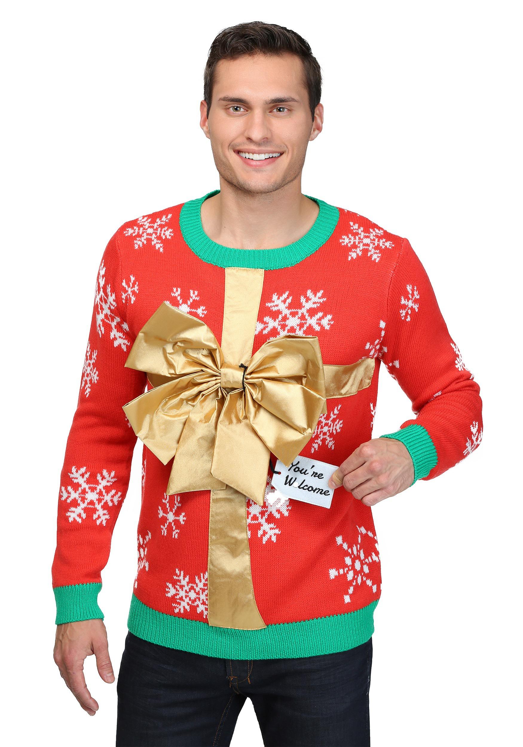 Christmas Sweater.Christmas Present Ugly Christmas Sweater