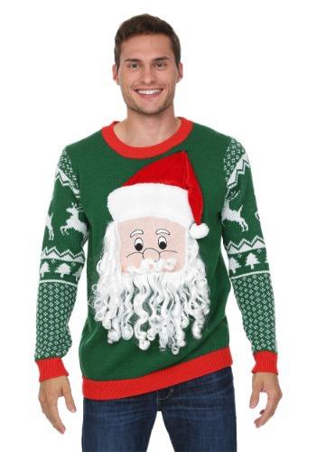 3D Santa Face Ugly Christmas Sweater FUN9120-2X