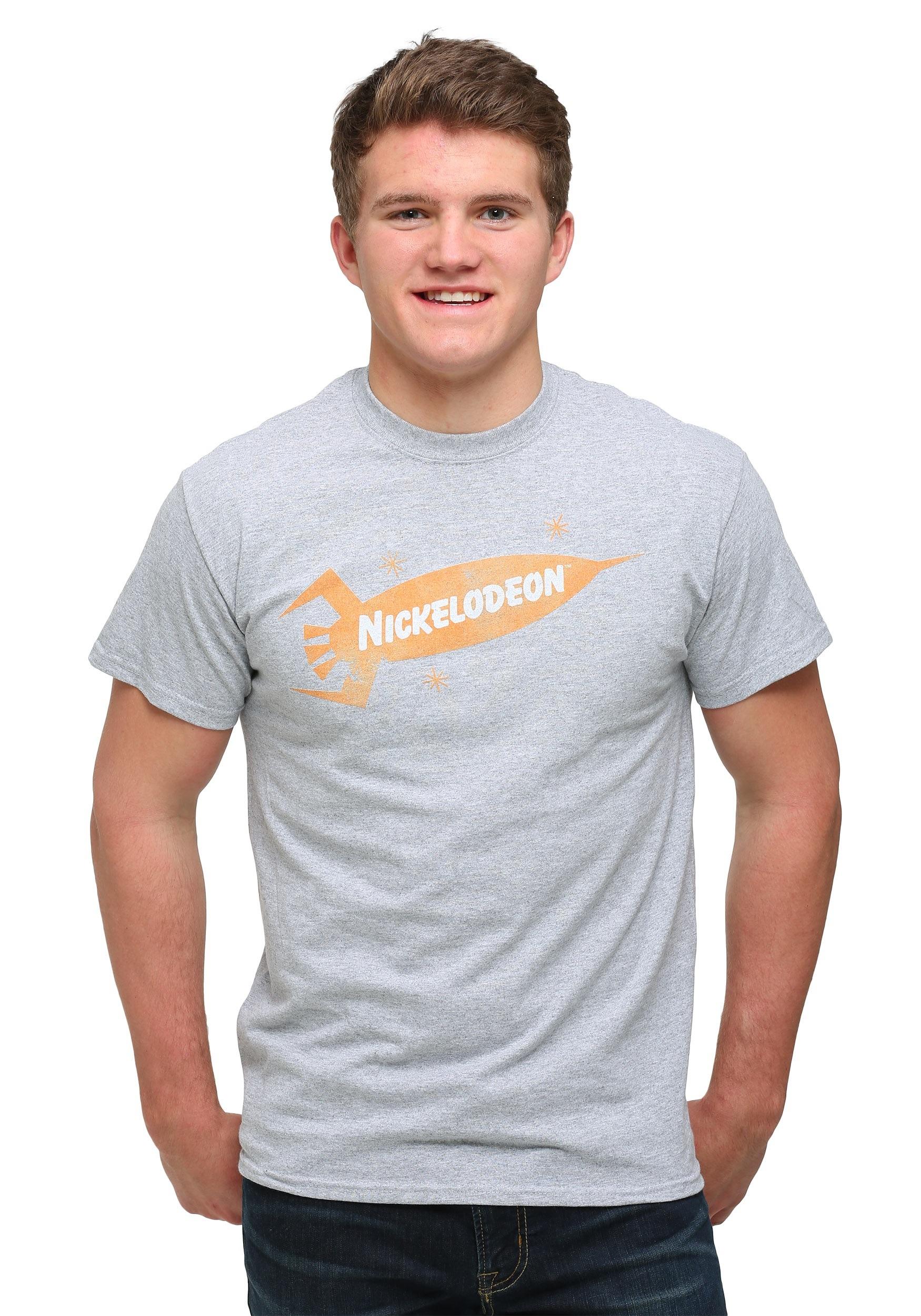 Men 39 s nickelodeon logo t shirt for T shirt with own logo