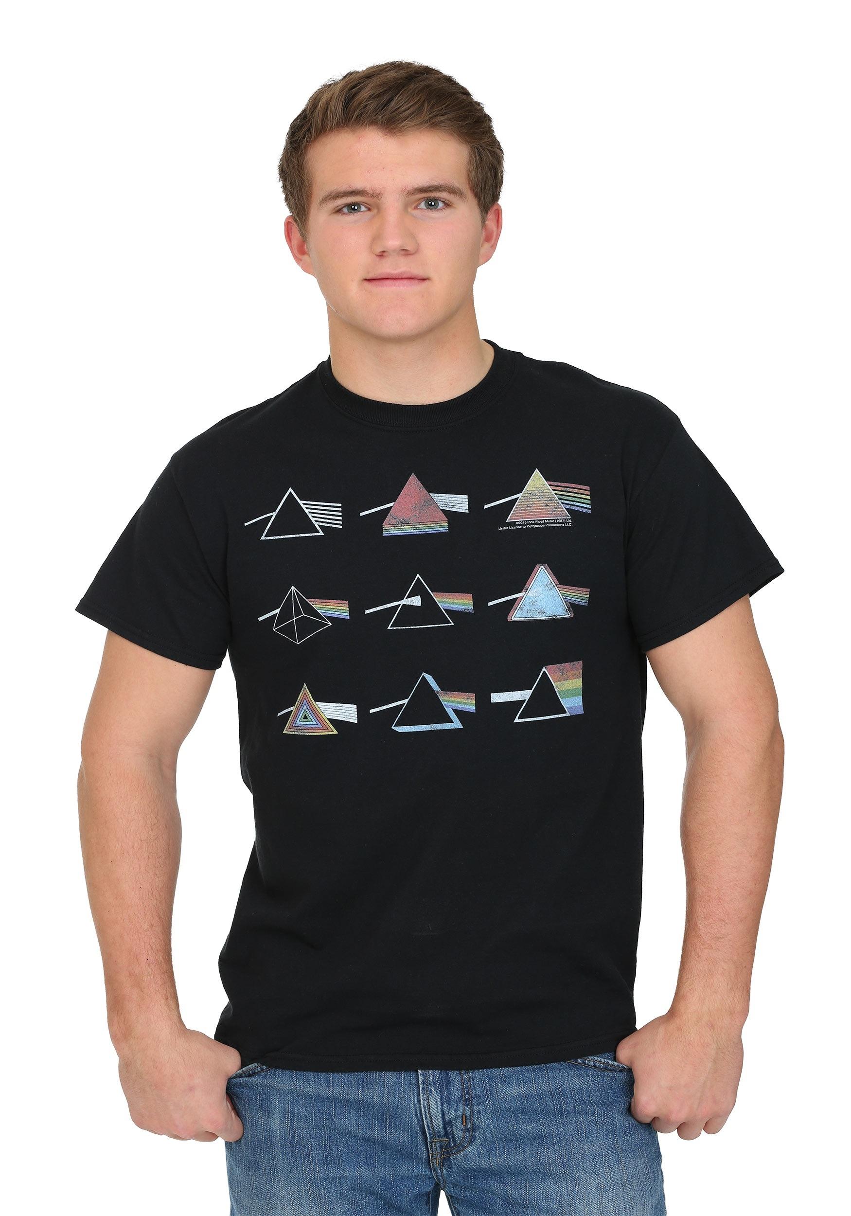 657a4fb3 Pink Floyd Dark Side Logo Grid Men's T-Shirt