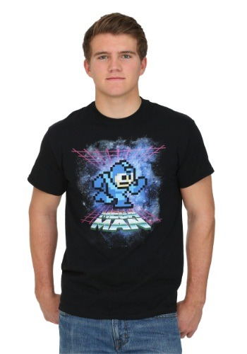 Mega Man Cosmic Background Men's T-Shirt