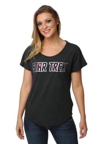 Star Trek Starry Logo Juniors Dolman T-Shirt