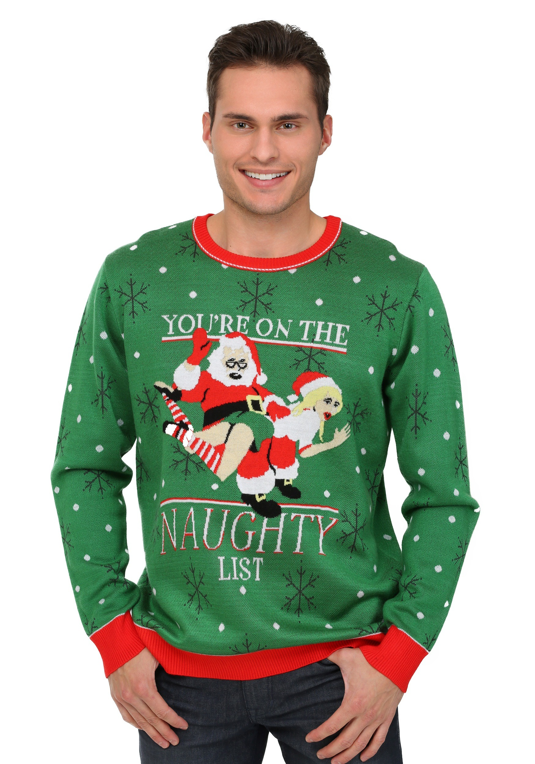 mens naughty list christmas sweater