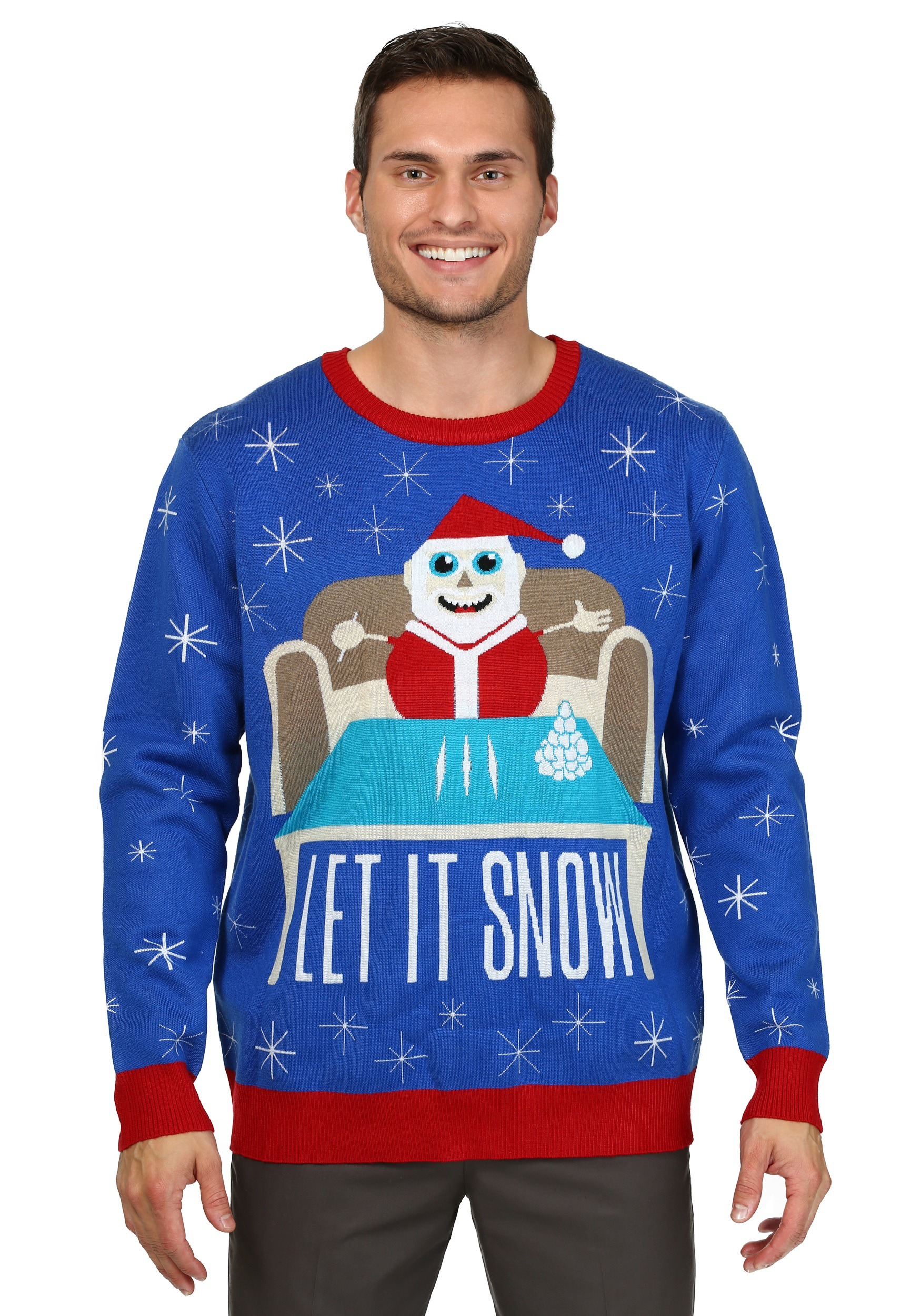 mens let it snow christmas sweater - Dirty Ugly Christmas Sweater