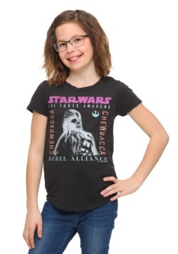 Star Wars Ep 7 Chewbacca Rebel Alliance Girls T-Shirt