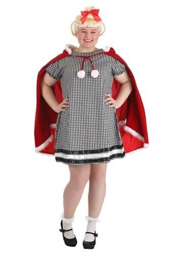 Plus Size Christmas Girl Costume1