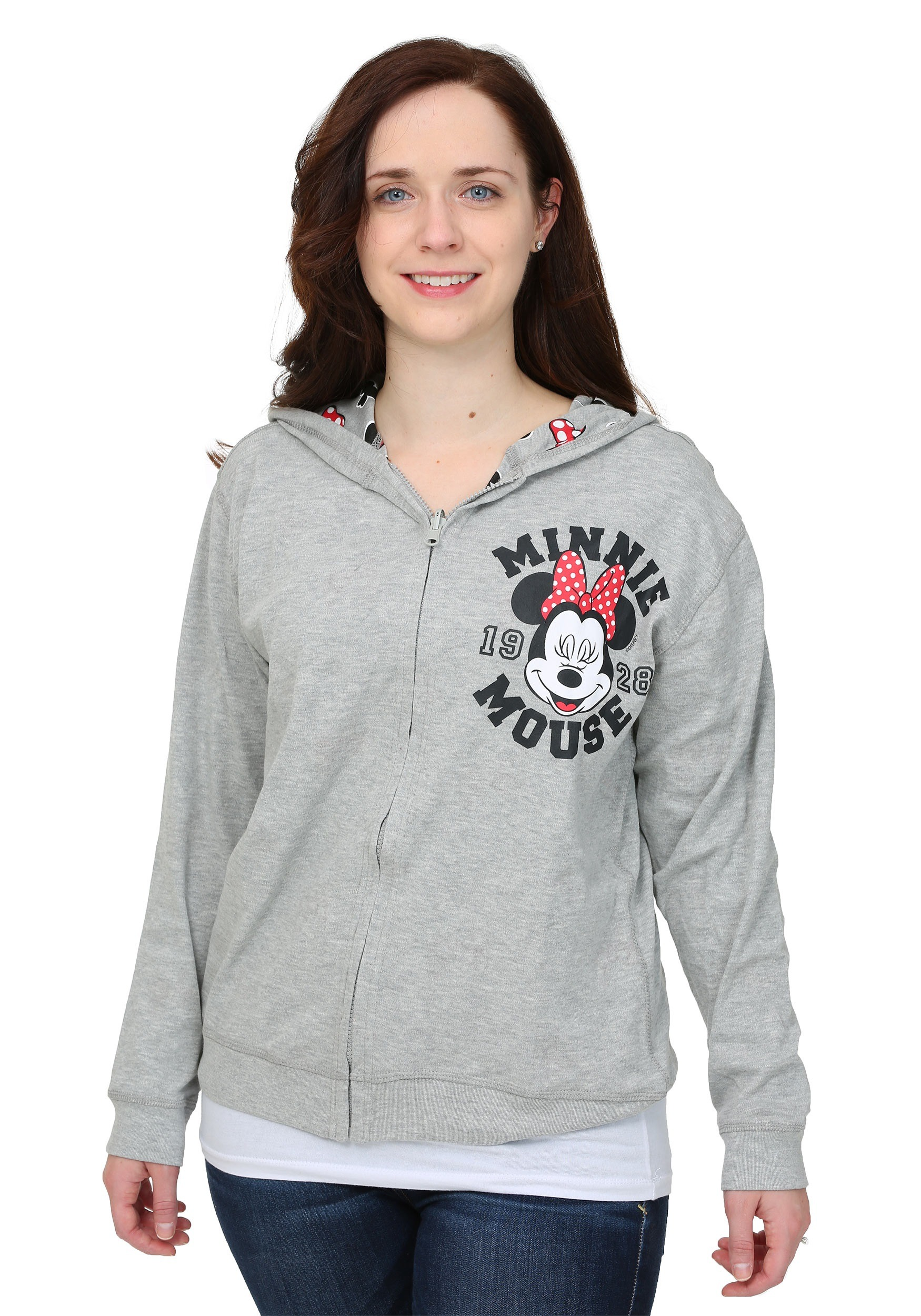 Minnie Mouse Reversible Womens Hooded Sweatshirt
