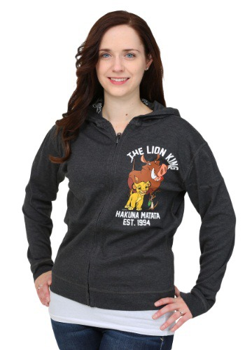 Lion King Womens Reversible Hooded Sweatshirt