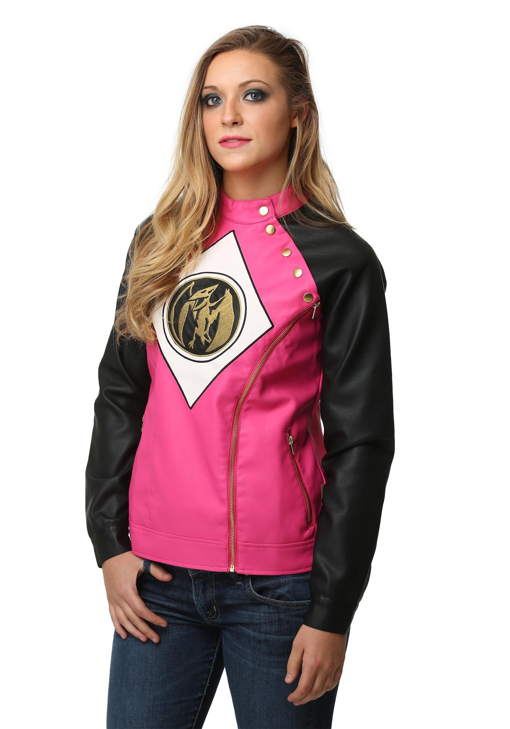 f45183d05 Power Rangers Pink Ranger Juniors Moto Jacket