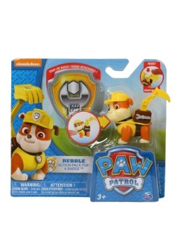 Paw Patrol Rubble Pup w/ Badge
