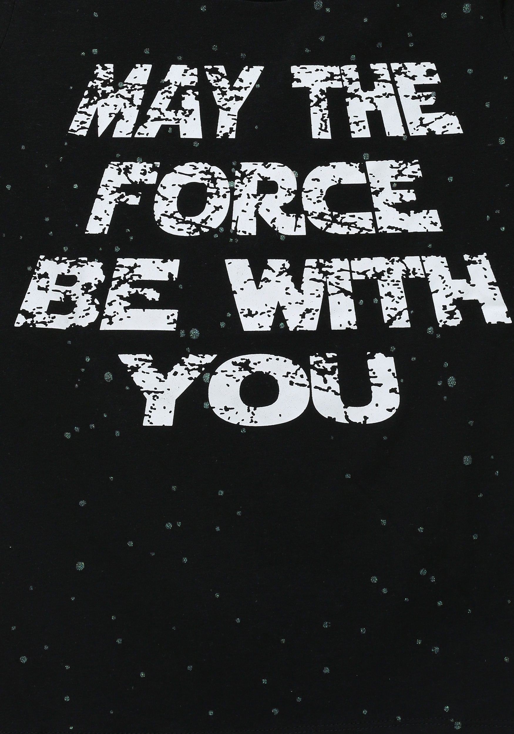Star Wars May The Force Be With You Glitter Girls T Shirt