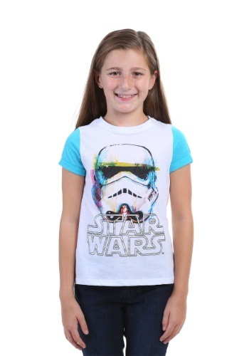 Star Wars Watercolor Trooper Contrast Sleeve T-Shirt