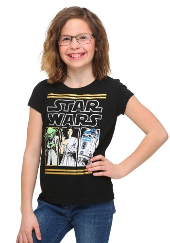 Star Wars Gold Foil Panels Girls T-Shirt