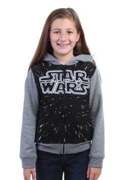 Star Wars Girls Hooded Sweatshirt w/ Contrasting Sleeves
