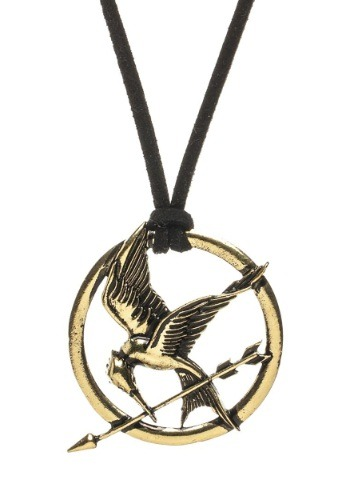 Hunger Games Mockingjay Suede Cord Pendant