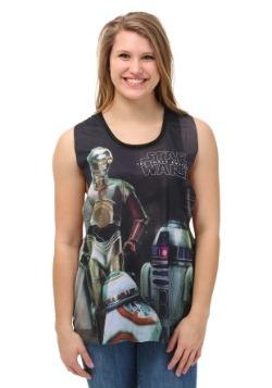 Star Wars Droid Trio Juniors Tank Top
