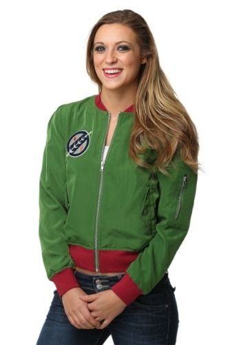 Star Wars Boba Fett Patch Bomber Juniors Jacket