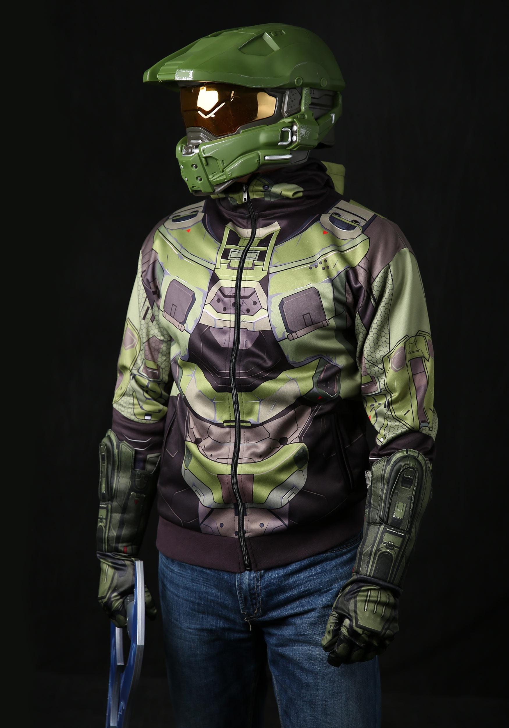 ... Adult Halo Master Chief Mjolnir Hoodie ... & Adult Halo Master Chief Costume Hoodie
