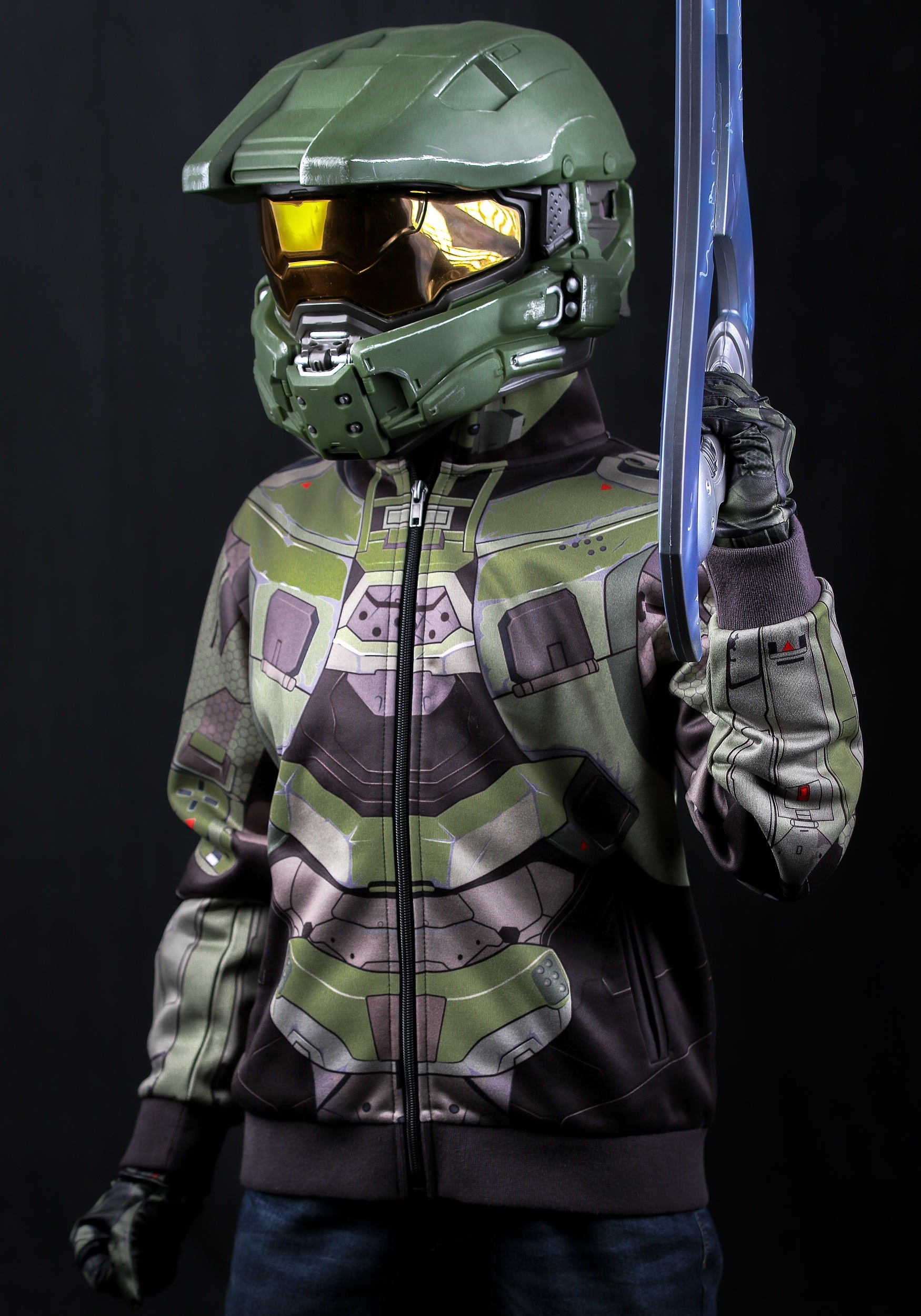 child halo master chief costume hoodie. Black Bedroom Furniture Sets. Home Design Ideas