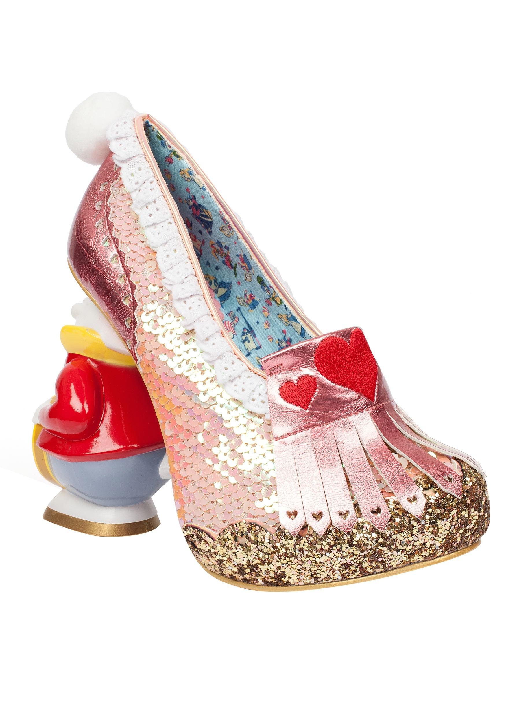 Irregular Choice Alice In Wonderland Women's White Rabbit Heels