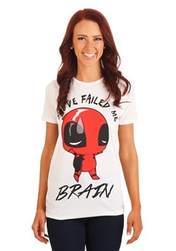 Deadpool Brains Failed Juniors Fashion Tee