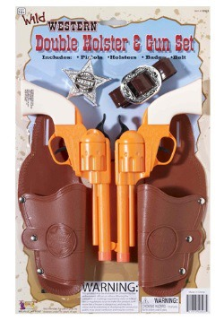 Double Holster Badge And Gun Set