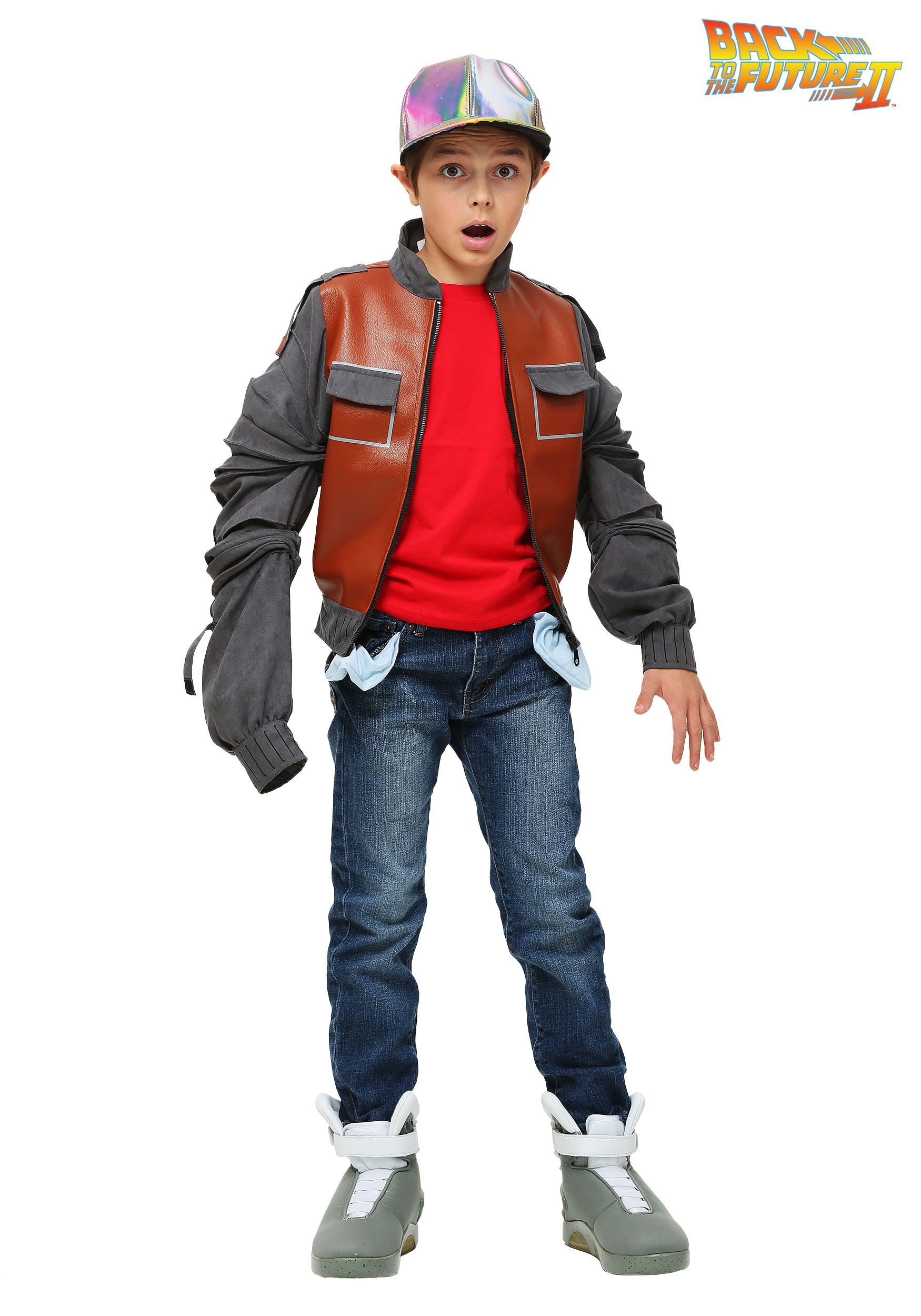 Marty Mcfly Costume Jacket For Kids From Back To The Future 2