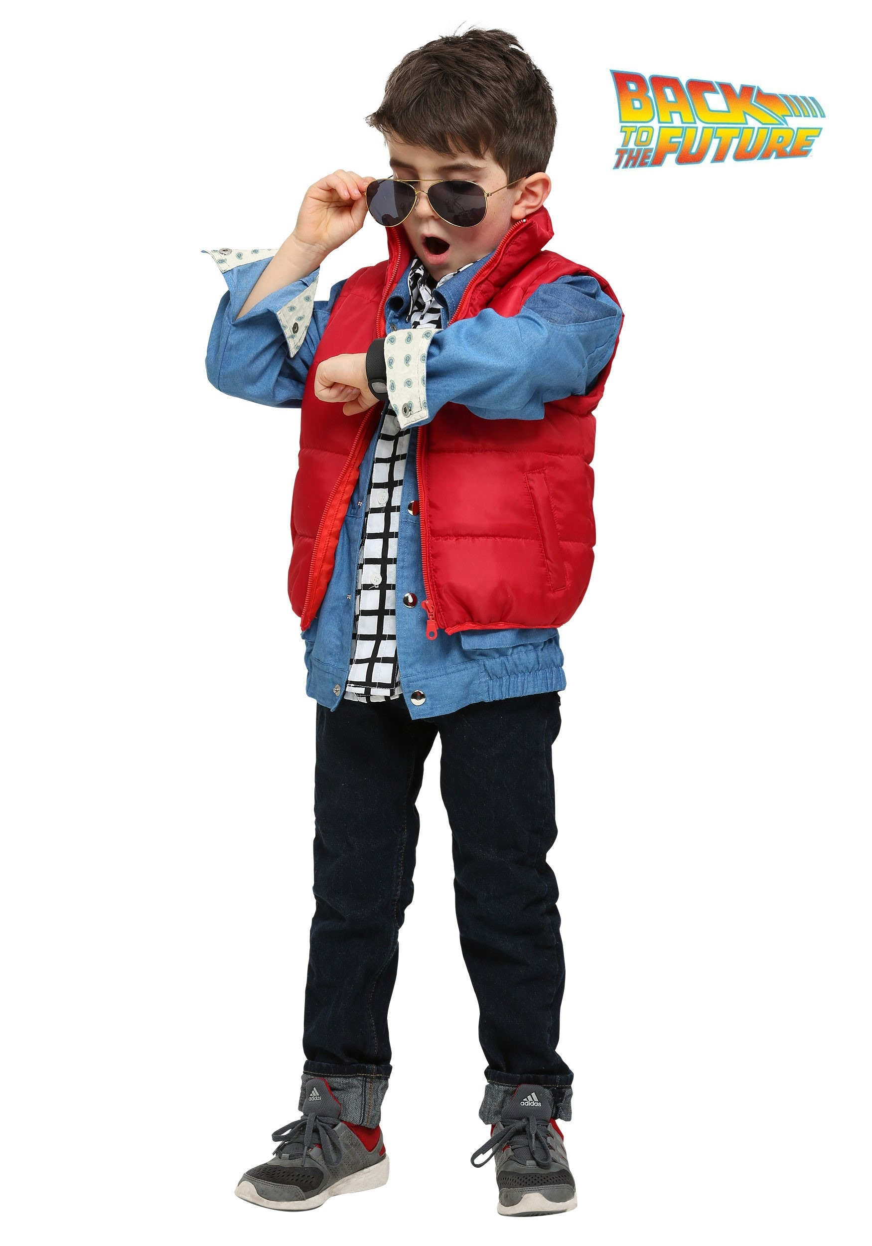 Toddler Boys Marty Mcfly Costume From Back To The Future # Modele Banc En Bois