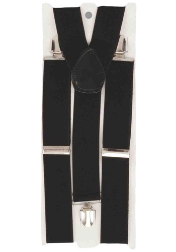Men's Black Suspenders
