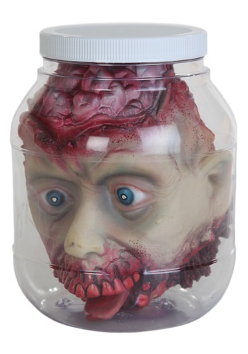 Zombie Head in a Jar Decoration