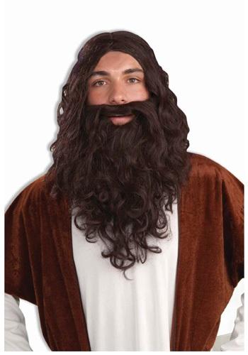 Mens Biblical Wig and Beard Set