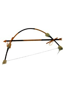 Tribal Native American Bow and Arrow Set