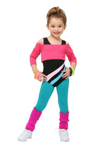 Toddler 80's Workout Girl Costume update