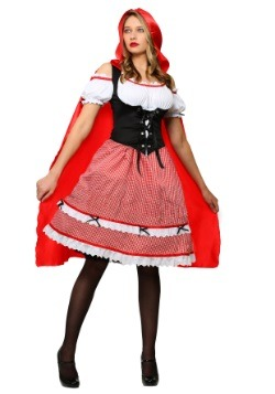 Womens Red Riding Hood Knee Length Dress Costume
